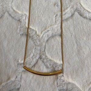 J.Crew Gold Bar Necklace
